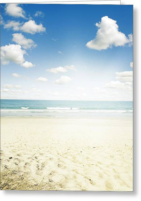 Beautiful Scenery Greeting Cards - Beach Greeting Card by Les Cunliffe