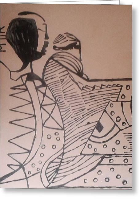 Maria Ceramics Greeting Cards - Bikira Maria  Greeting Card by Gloria Ssali