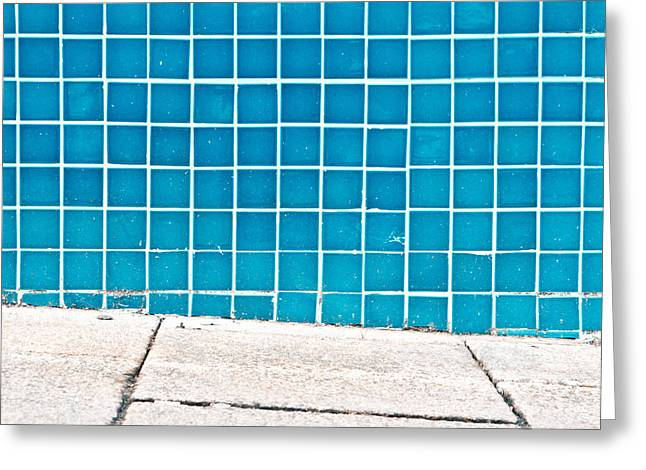 Weathered Rock Face Greeting Cards - Blue tiles Greeting Card by Tom Gowanlock