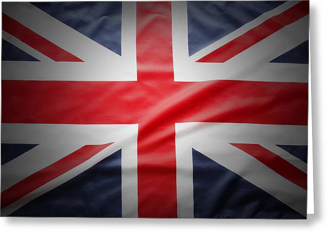 British Flag Greeting Cards - British flag Greeting Card by Les Cunliffe