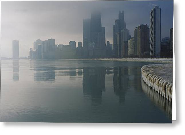 Midwest Scenes Greeting Cards - Buildings At The Waterfront, Lake Greeting Card by Panoramic Images
