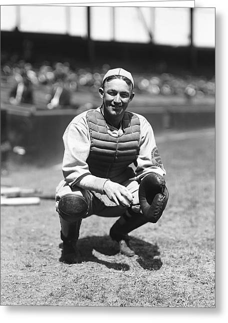 National League Baseball Photographs Greeting Cards - Charles L. Gabby Hartnett Greeting Card by Retro Images Archive