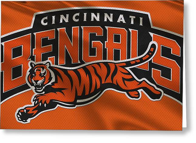 Ball Greeting Cards - Cincinnati Bengals Uniform Greeting Card by Joe Hamilton