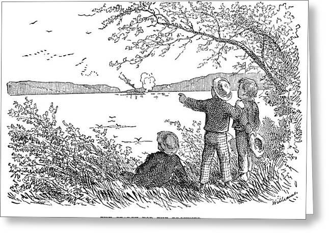 Clemens Tom Sawyer Greeting Card by Granger
