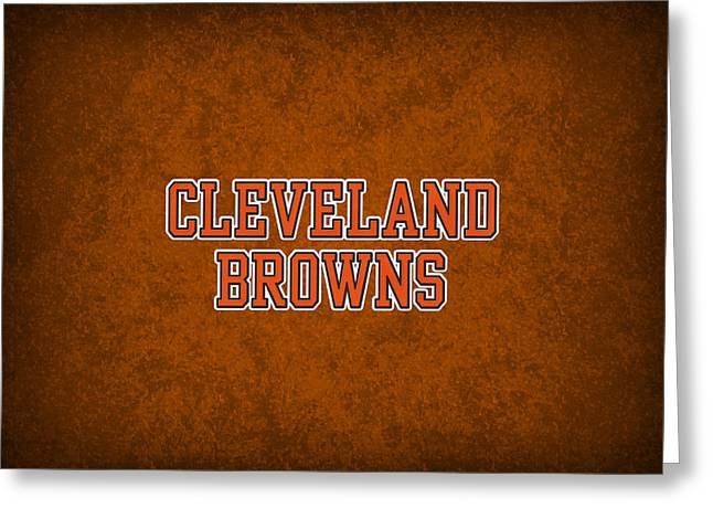 Cleveland Browns Greeting Cards - Cleveland Browns Greeting Card by Joe Hamilton