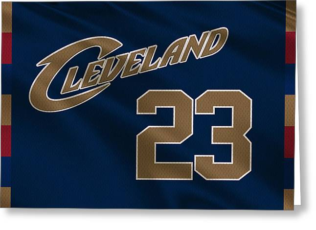 Lebron Photographs Greeting Cards - Cleveland Cavaliers Uniform Greeting Card by Joe Hamilton