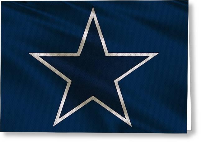 Dallas Cowboys Greeting Cards - Dallas Cowboys Uniform Greeting Card by Joe Hamilton