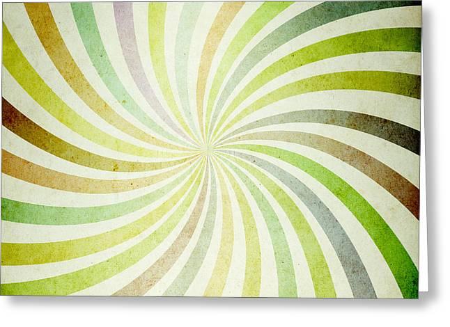 Geometric Style Greeting Cards - Decorative retro background paper. Greeting Card by Deyan Georgiev