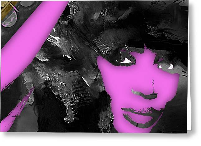 Empires Naomi Campbell Camilla Greeting Card by Marvin Blaine