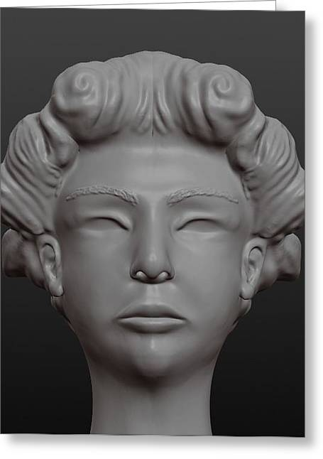 Face Sculptures Greeting Cards - Face Greeting Card by Moshfegh Rakhsha