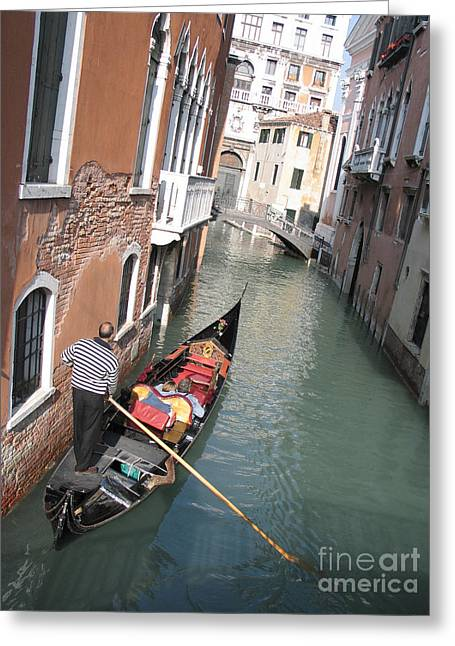 City Canal Greeting Cards - Gondola. Venice Greeting Card by Bernard Jaubert