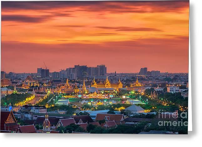 River View Greeting Cards - Grand palace  Greeting Card by Anek Suwannaphoom