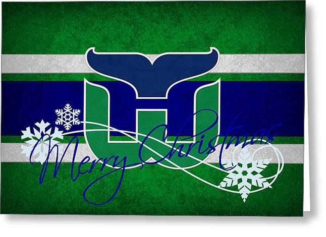 Skates Greeting Cards - Hartford Whalers Greeting Card by Joe Hamilton