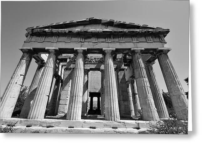 Hephaestus Temple Greeting Card by George Atsametakis