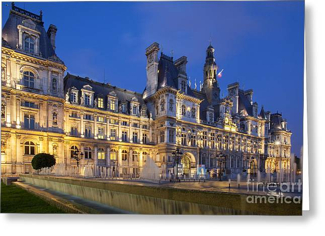 Administrative Greeting Cards - Hotel de Ville Greeting Card by Brian Jannsen