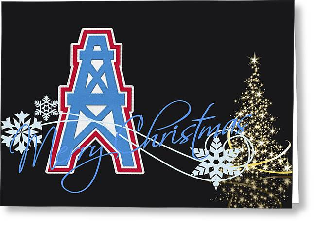 Greeting Cards Greeting Cards - Houston Oilers Greeting Card by Joe Hamilton