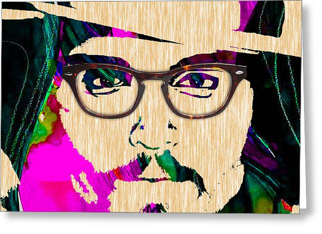 Actors Greeting Cards - Johnny Depp Collection Greeting Card by Marvin Blaine