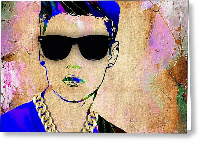 Pop Greeting Cards - Justin Bieber Collection Greeting Card by Marvin Blaine