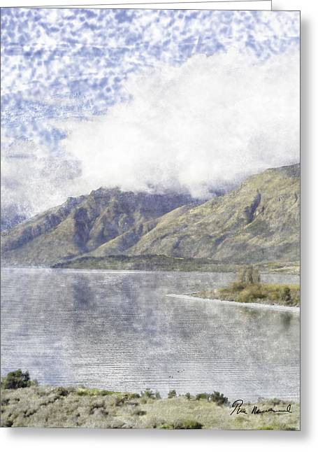 River View Pastels Greeting Cards - Lake Wakatipu Greeting Card by Tim Mulholland