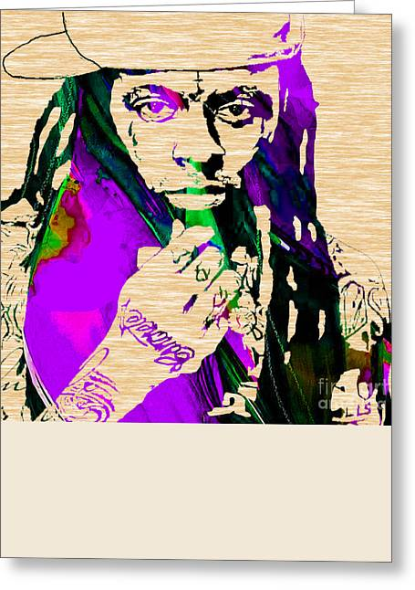 Lil Wayne Collection Greeting Card by Marvin Blaine