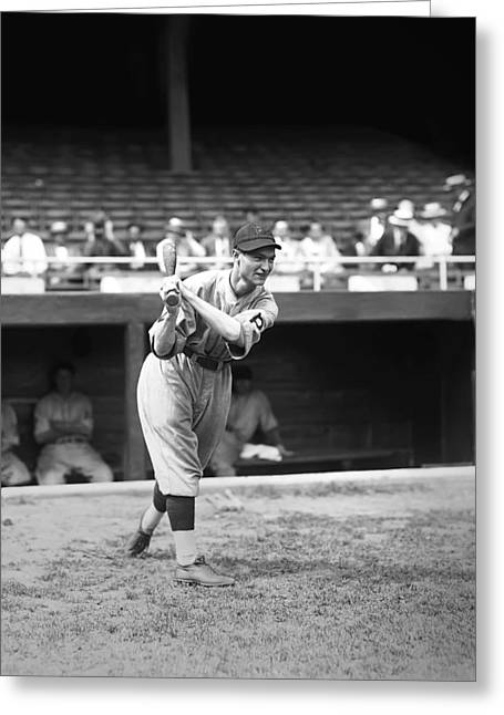 Baseball Game Greeting Cards - Lloyd J. Waner Greeting Card by Retro Images Archive
