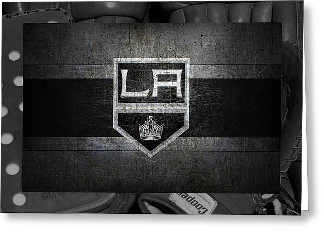 Barn Door Greeting Cards - Los Angeles Kings Greeting Card by Joe Hamilton