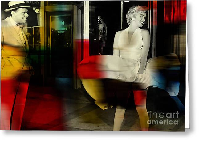 Monroe Greeting Cards - Marilyn Monroe Greeting Card by Marvin Blaine