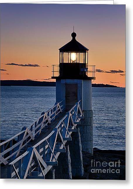 Maine Lighthouses Greeting Cards - Marshall Point Lighthouse Greeting Card by John Greim