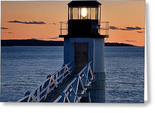Marshall Point Lighthouse Greeting Card by John Greim