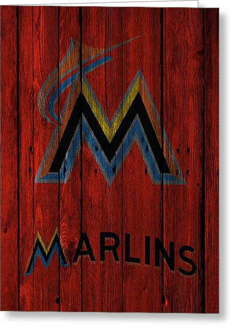 Marlin Greeting Cards - Miami Marlins Greeting Card by Joe Hamilton