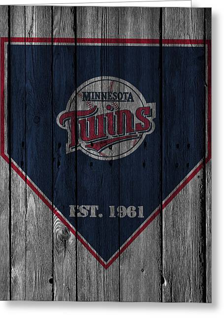 Twin Greeting Cards - Minnesota Twins Greeting Card by Joe Hamilton