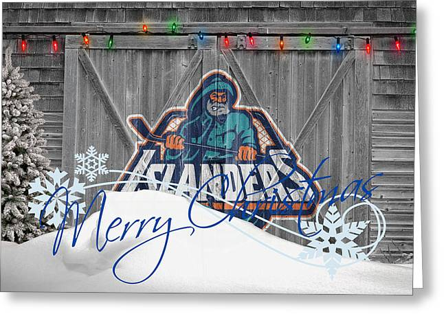 Hockey Greeting Cards - New York Islanders Greeting Card by Joe Hamilton