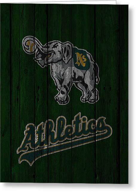 Oakland Athletics Greeting Cards - Oakland Athletics Greeting Card by Joe Hamilton