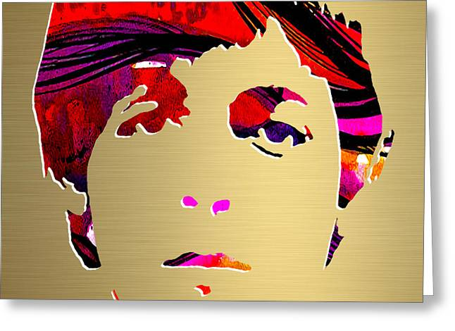 Paul Greeting Cards - Paul McCartney Gold Series Greeting Card by Marvin Blaine