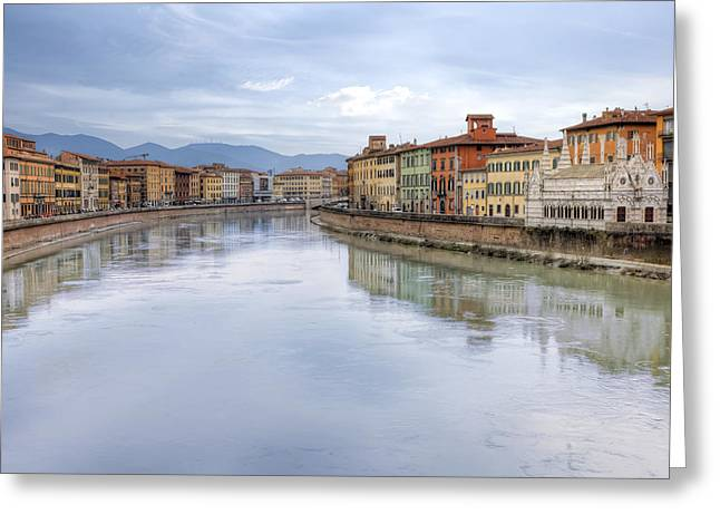 Arno Greeting Cards - Pisa Greeting Card by Joana Kruse
