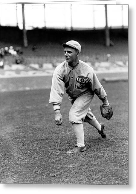 Baseball Game Greeting Cards - Raymond W. Ray Schalk Greeting Card by Retro Images Archive