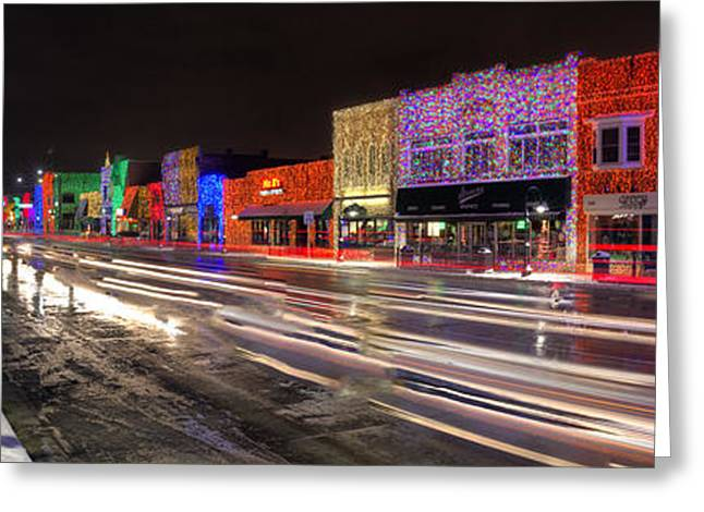 Rochester Christmas Light Display Greeting Card by Twenty Two North Photography