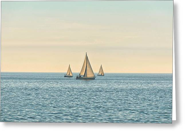 Rope Pyrography Greeting Cards - Sail of a sailing boat Greeting Card by Oliver Sved