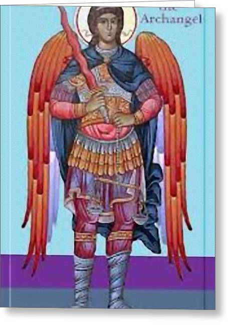 Etc. Paintings Greeting Cards - Saint Michael Greeting Card by Matteo TOTARO