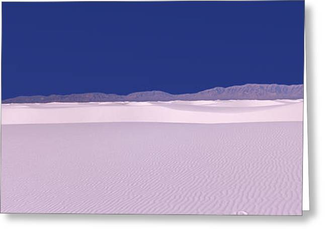 Sand Dunes In A Desert, White Sands Greeting Card by Panoramic Images