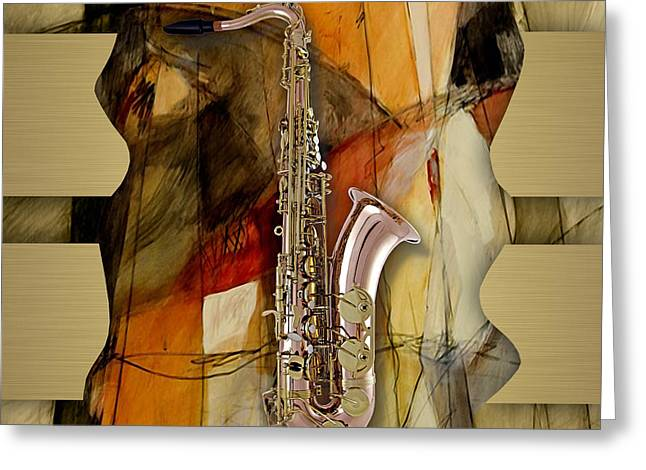 Saxophone Greeting Cards - Saxophone Collection Greeting Card by Marvin Blaine