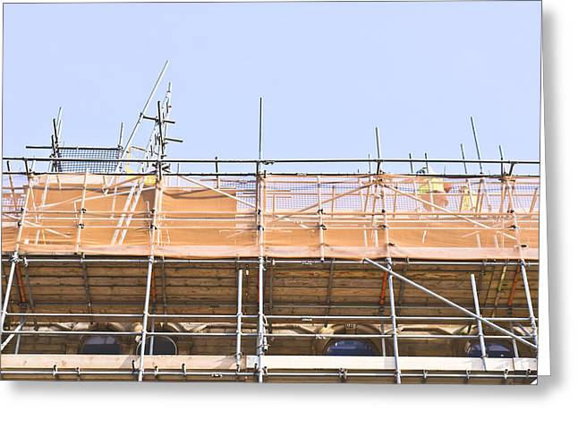 Legislation Greeting Cards - Scaffolding Greeting Card by Tom Gowanlock