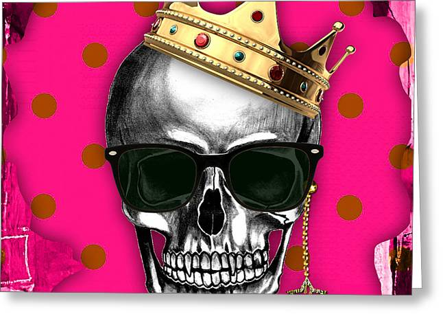 Skull Greeting Cards - Skull Art Collection Greeting Card by Marvin Blaine