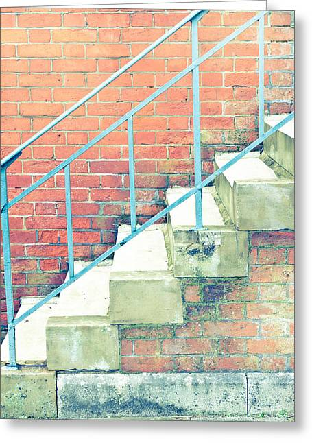 High Park Fire Greeting Cards - Stone steps Greeting Card by Tom Gowanlock