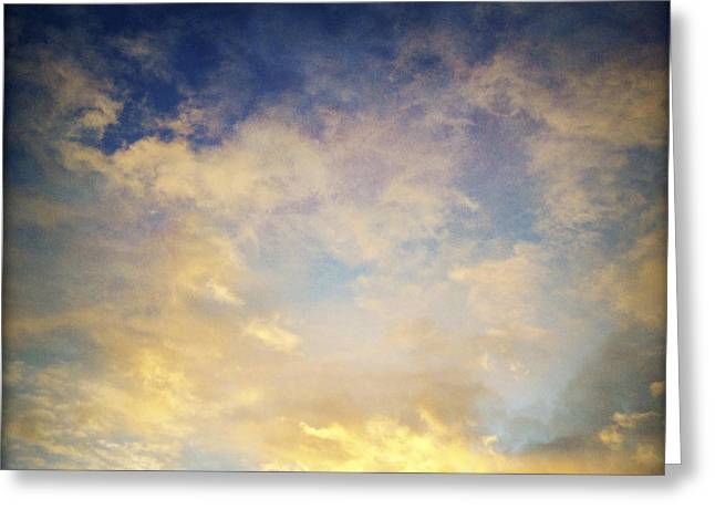 Sunlit Greeting Cards - Sunset sky Greeting Card by Les Cunliffe