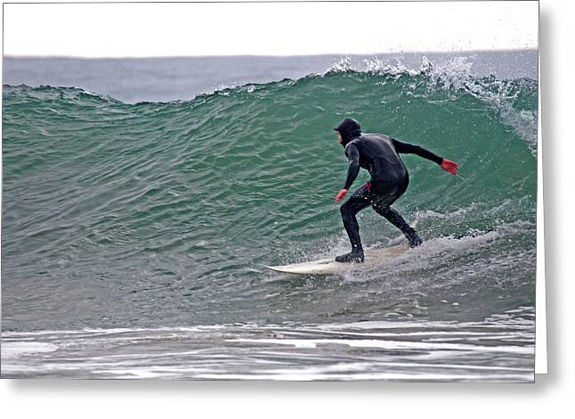 Best Sellers -  - Rincon Beach Greeting Cards - Surfing Greeting Card by Elijah Weber
