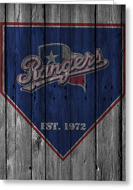 Ranger Greeting Cards - Texas Rangers Greeting Card by Joe Hamilton