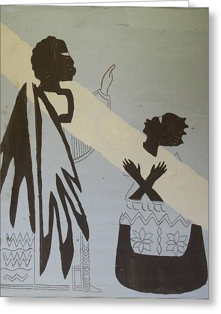 Ugandan Ceramicist Ceramics Greeting Cards - The Annunciation Greeting Card by Gloria Ssali