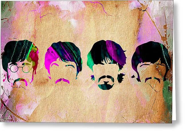 Harrison Greeting Cards - The Beatles Collection Greeting Card by Marvin Blaine