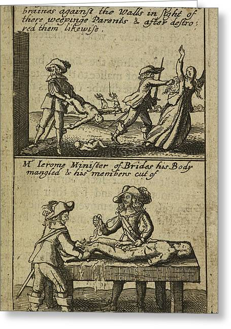 The Teares Of Ireland Greeting Card by British Library